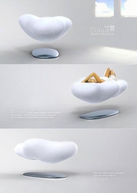 Cloud sofa: sentarse en una nube