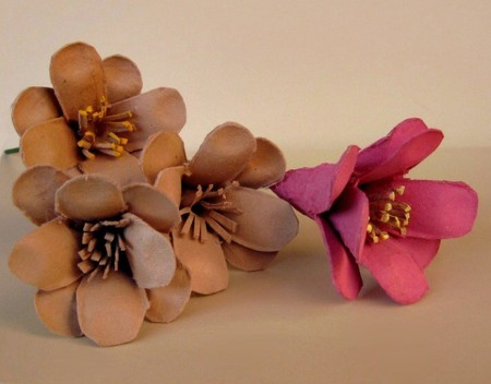 flores cajas huevos