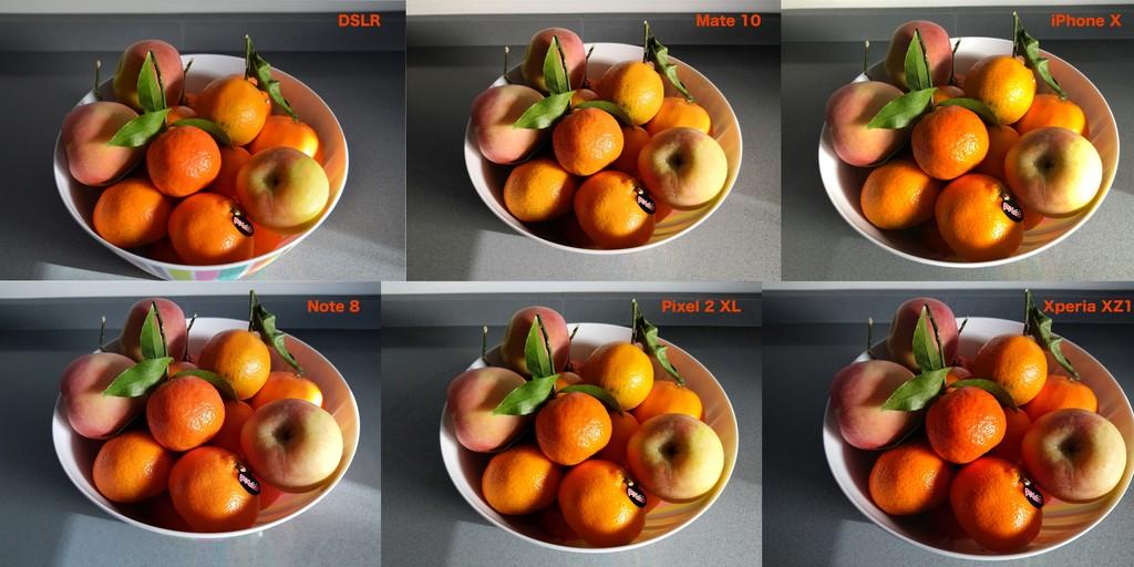 Comprativa Color Fruta