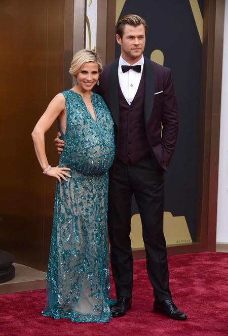 Una embarazadísima Elsa Pataky no se pierde los Oscars