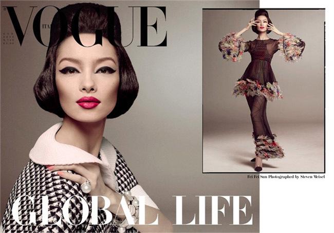 Sun Feifei para Vogue Italia