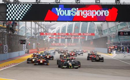 Salida Singapur GP2 2012