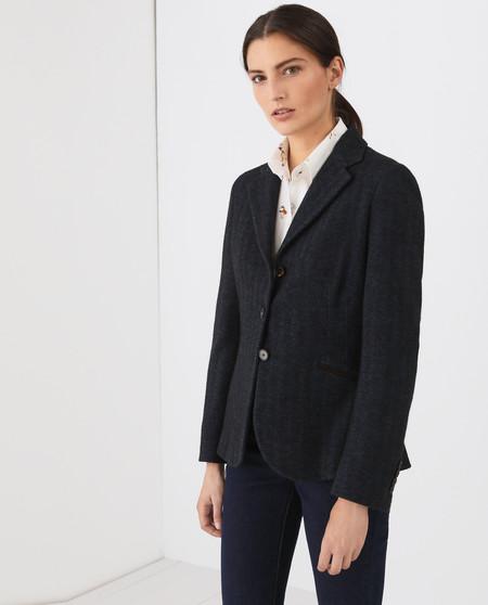 Blazer de espiga de mujer 100% lana