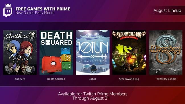 Twitch Prime Agosto