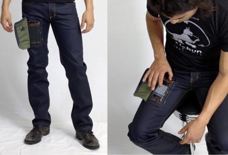 Vaquero con bolsillo para ver y usar el móvil