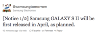 Samsung Galaxy SII no se retrasa, aparecerá en abril