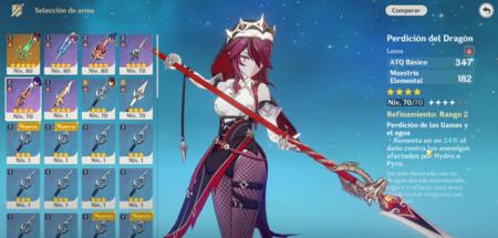 Armas de Rosaria para Genshin Impact