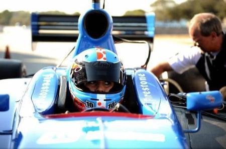 Carmen Jordá y Adrián Campos Jr juntos en la Indy Lights