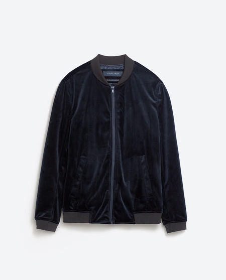 Jude Law Bomber Velvet Jacket Zara Sale
