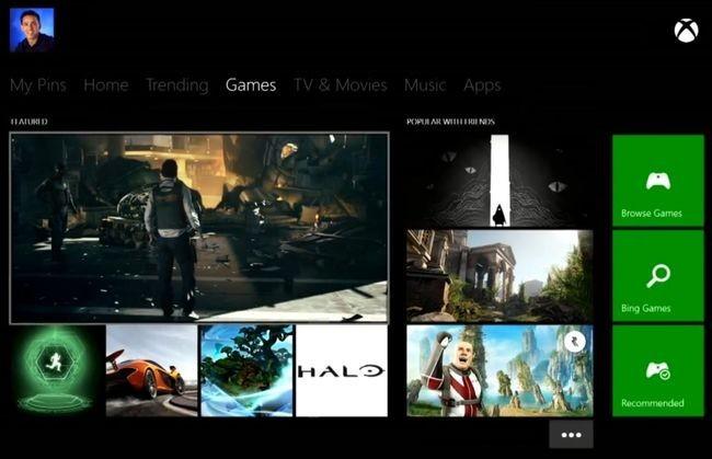Menú Juegos de Xbox One
