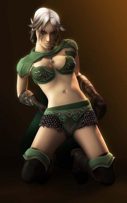 Nightsong, la protagonista de Spellforce 2, posa para la revista MAN