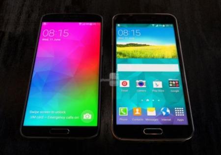 Samsung Galaxy F al lado de un S5, adiós a los marcos