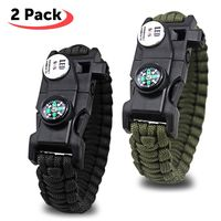 Por 9,33 euros tenemos este set de dos pulseras SOS Paracord en Amazon. Es una oferta flash válida hasta medianoche