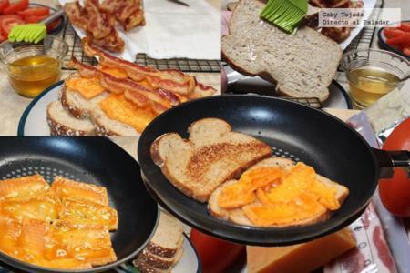 Sandwich Tocino Preparación 1