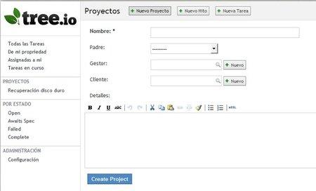 Gestor de proyectos Tree.io
