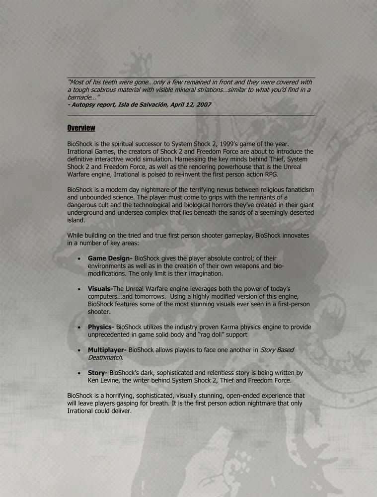 Foto de 'BioShock', documentos originales (4/9)