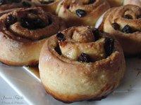 Raisins rolls. Receta
