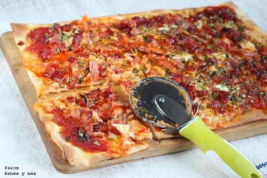 Pizza casera de choribacon, receta fácil para las cenas familiares