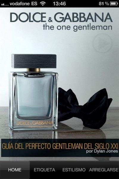 Revisamos la App para iPhone de Dolce&Gabbana: Normas para el Caballero Moderno