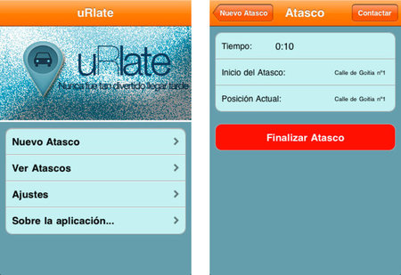 uRlate, un curioso notificador de atascos para iPhone