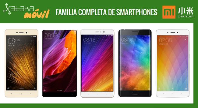 Xiaomi Mi Mix y Mi Note 2, así quedan dentro del catálogo completo de móviles Xiaomi