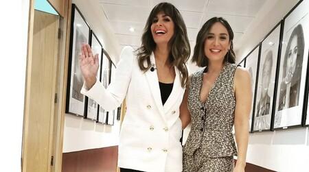 Tamara Falcó apuesta por un look working girl con chaleco en El Hormiguero