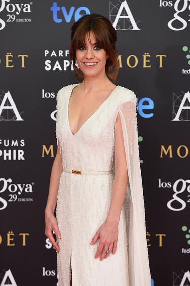 Alexandra Jiménez como una novia en los Premios Goya 2015