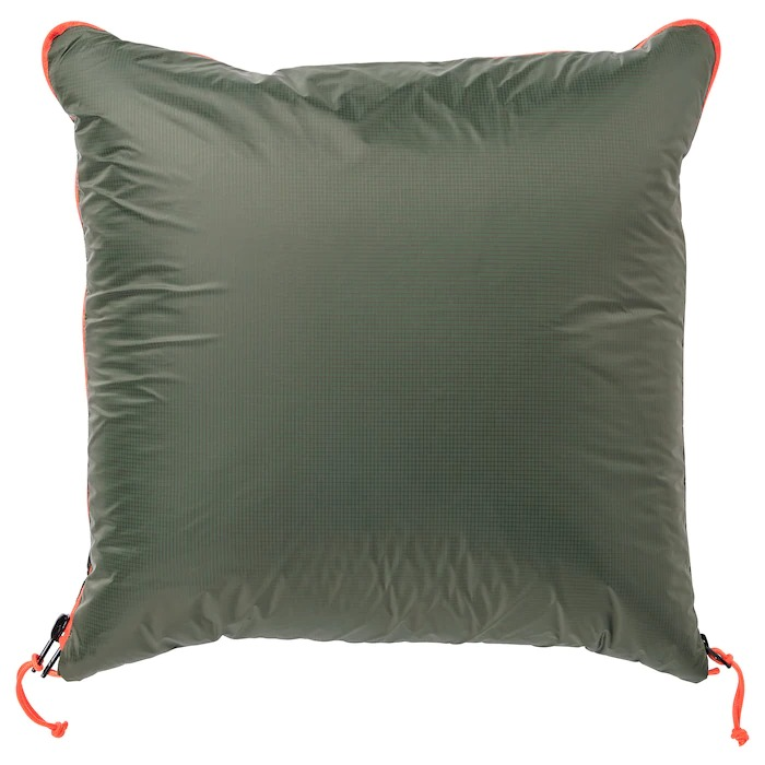 FÄLTMAL Cojín/manta, verde oscuro190x120 cm