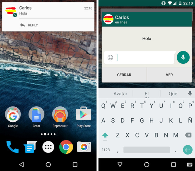 Quick Reply WhatsApp Android