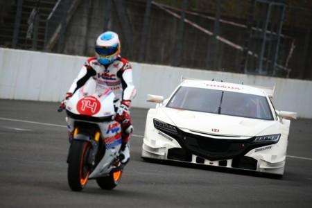Fernando Alonso se subió a la Honda de MotoGP
