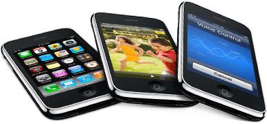 El iPhone 3GS tiene la subida de datos limitada a 384 Kbps