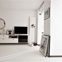Una exitosa decoración en blanco y negro en un apartamento de 40 metros cuadrados