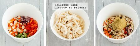 Ensalada Pollo Surimi Prep