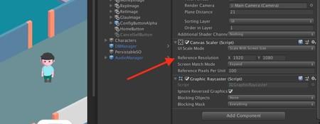 El componente Canvas Scaler de Unity nos ayudará a ajustar la UI a cualquier dispositivo iOS