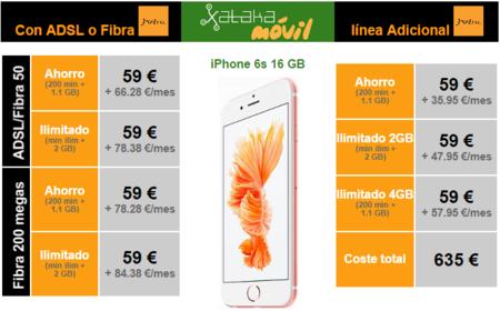 Precios Iphone 6s Jazztel