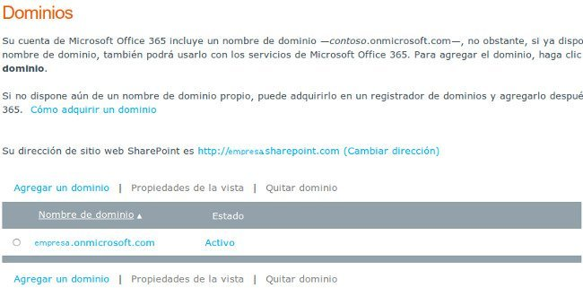 Dominios Office 365