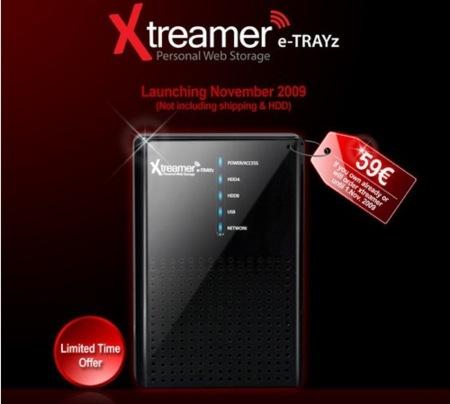 Xtreamer e-TRAYz, un NAS con funciones adicionales