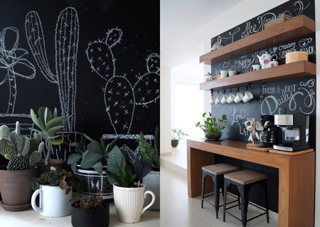 17 ideas para colocar una pared de pizarra en casa - Pared De Pizarra