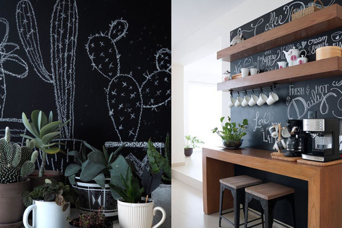 17 ideas para colocar una pared de pizarra en casa