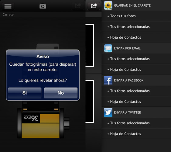 Thirty Six app interfaz