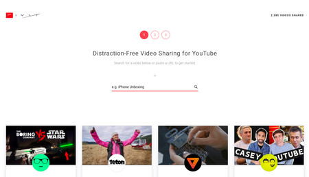 Distraction Free Video Sharing For Youtube