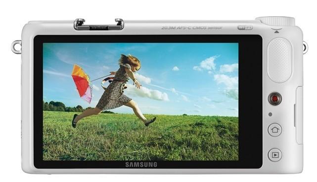 Samsung NX200 pantalla