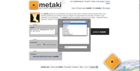 Metaki, red de microblogging para convocar tipos de eventos
