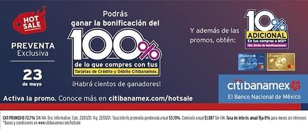 Promociones de tarjetas de crédito Citibanamex en el Hot Sale 2021