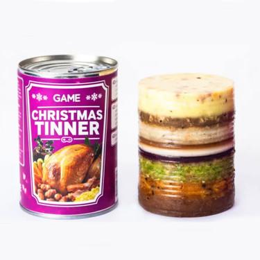 La tienda de videojuegos Game vende una lata con una comida navideña completa para viciarte a gusto estas fiestas