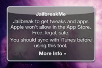 JailbreakMe una buena solución, pero sólo momentánea