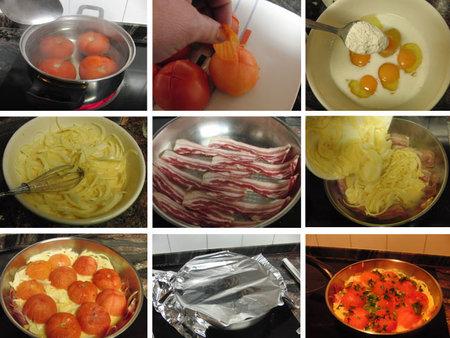 Sartén de tomates