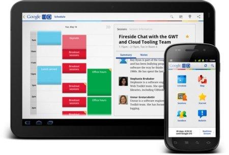 aplicación móvil Google I/O