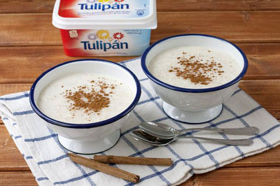 Arroz con leche y margarina Tulipán. Receta