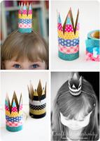 DIY fácil y bonito: una corona para tu peque con un rollo de papel y washi tape